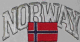 Norway Embroidered Flag Patch, style 03.